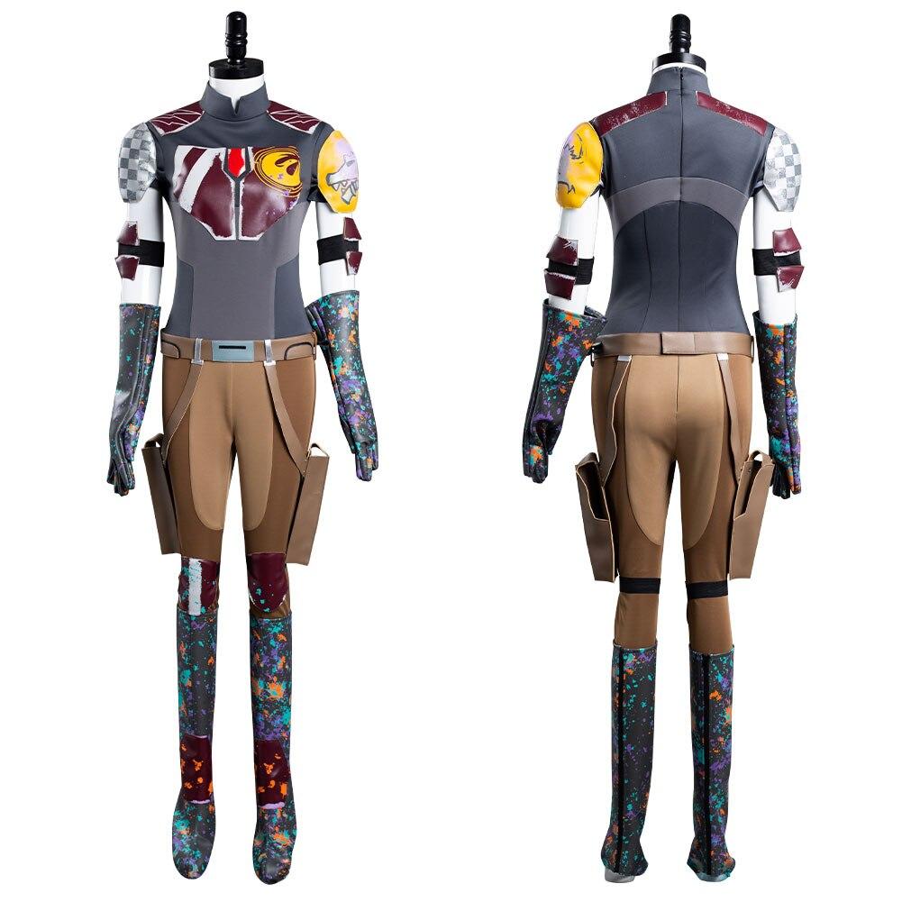 نجمة تأثيري Sabine Wren تأثيري حلي ملابس موحدة هالوين كرنفال البدلة