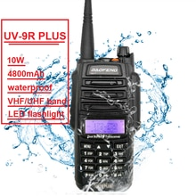 10W Baofeng UV-9R artı amatör radyo taşınabilir su geçirmez Walkie Talkie Pofung UV9R CB Ham radyo tarayıcı çift bant verici
