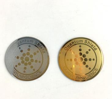 2019 nuevo escudo cuántico 24K oro ion negativo anti radiación pegatina escudo 10 unids/lote
