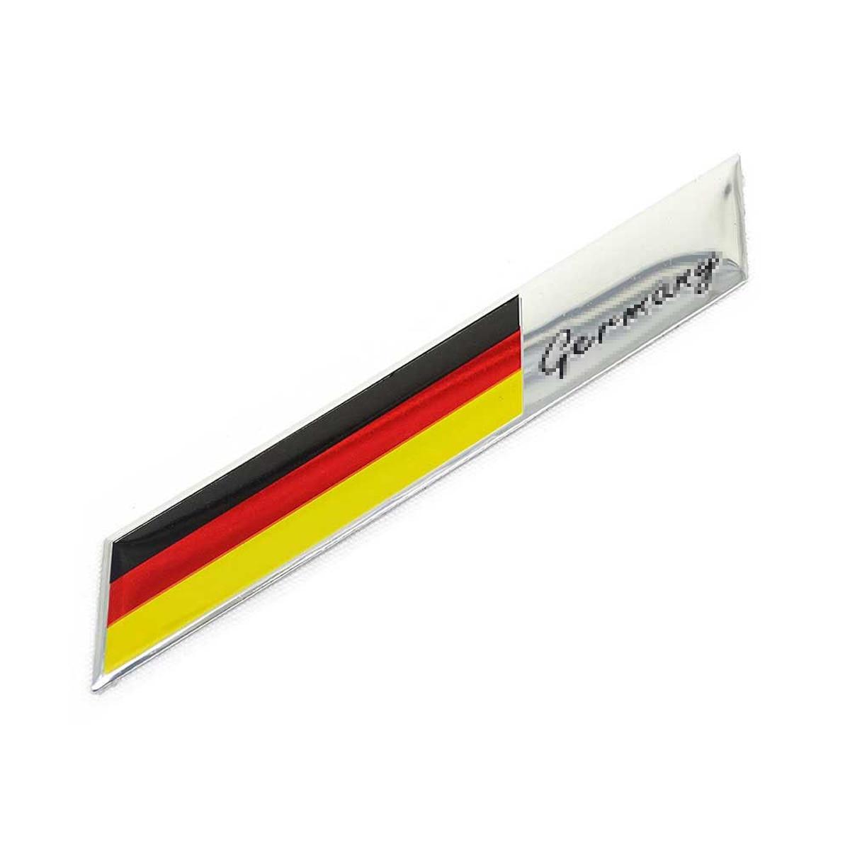Coche estilizado 2 uds coche aluminio emblema de parrilla delantera Alemania alemán GE bandera Logo insignia pegatina etiqueta 3D para accesorios de coche