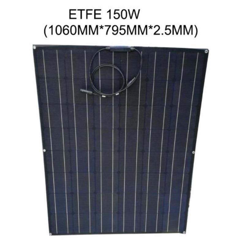 solar cell flexible 150w ETFE semi-flexible solar panel for battery charging