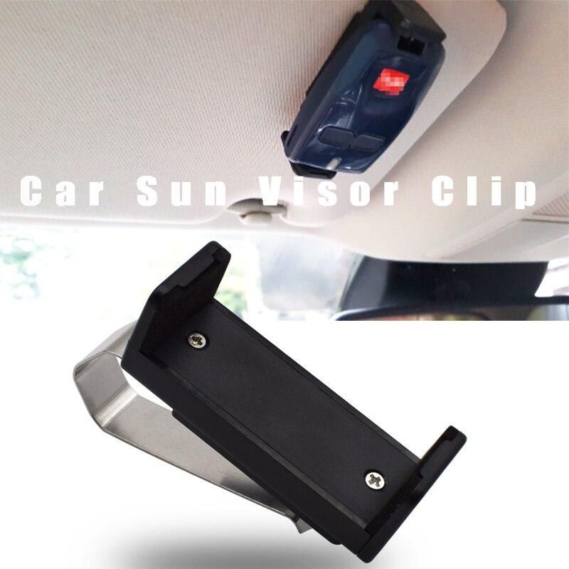 Auto Sonnenblende Clip Halter Halterung Ständer 47-68mm für Garage Tür fernbedienung Auto Schlüssel Remote Schnell installation