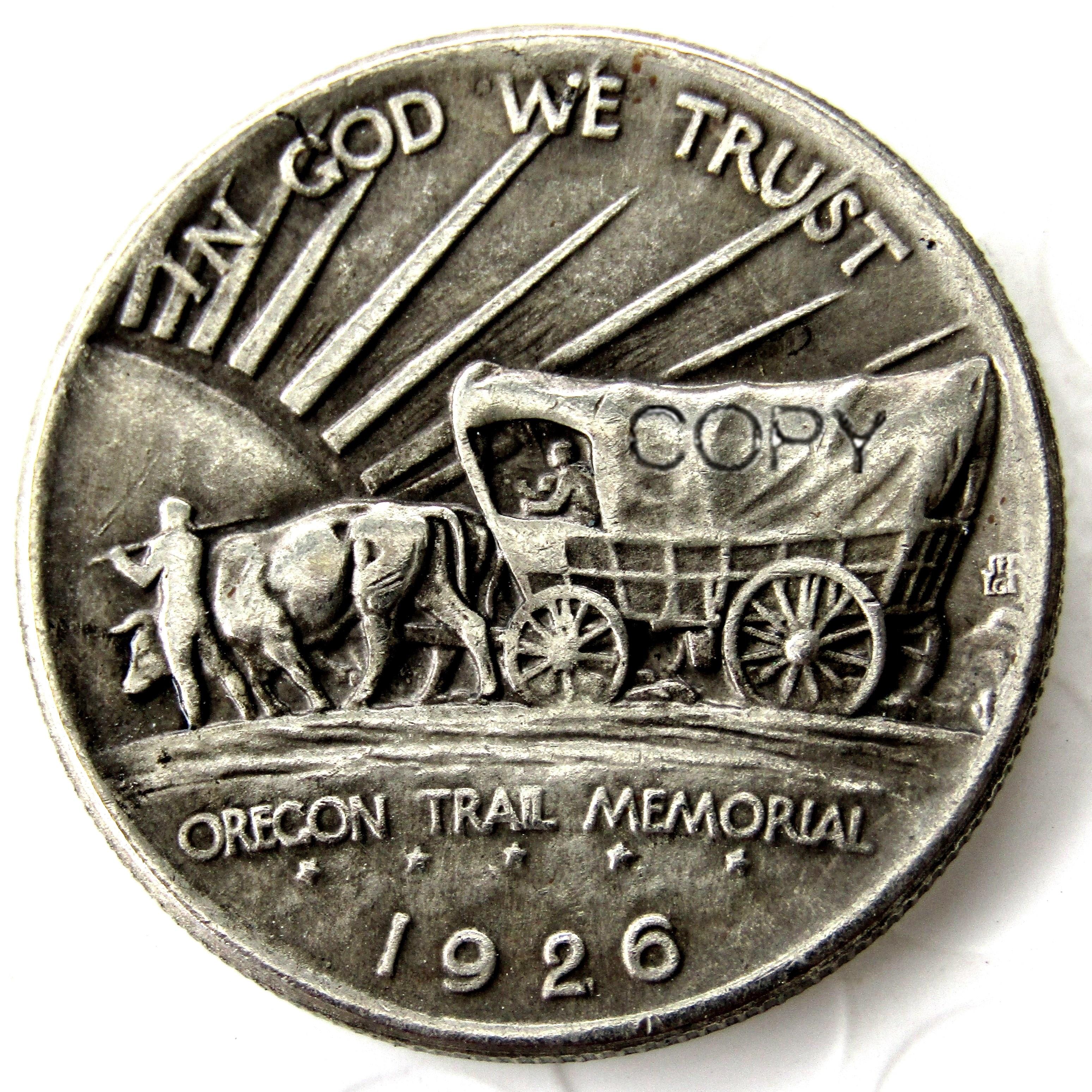 США 1926-S Орегон Trail Memorial половина копия доллара монеты посеребренные
