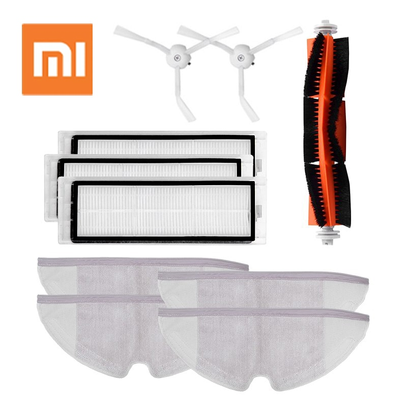 For Xiaomi Roborock S50 S51 S55 Accessories Xiaomi Vacuum Cleaner Parts Side Brush Hepa Filter Roller Brush Mop Cloth