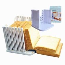 Trancheuse à pain Guide de coupe de qualité alimentaire en plastique épissage Toast pain Cutter support tranchage cuisine outils de cuisson accessoires 2020 nouveau