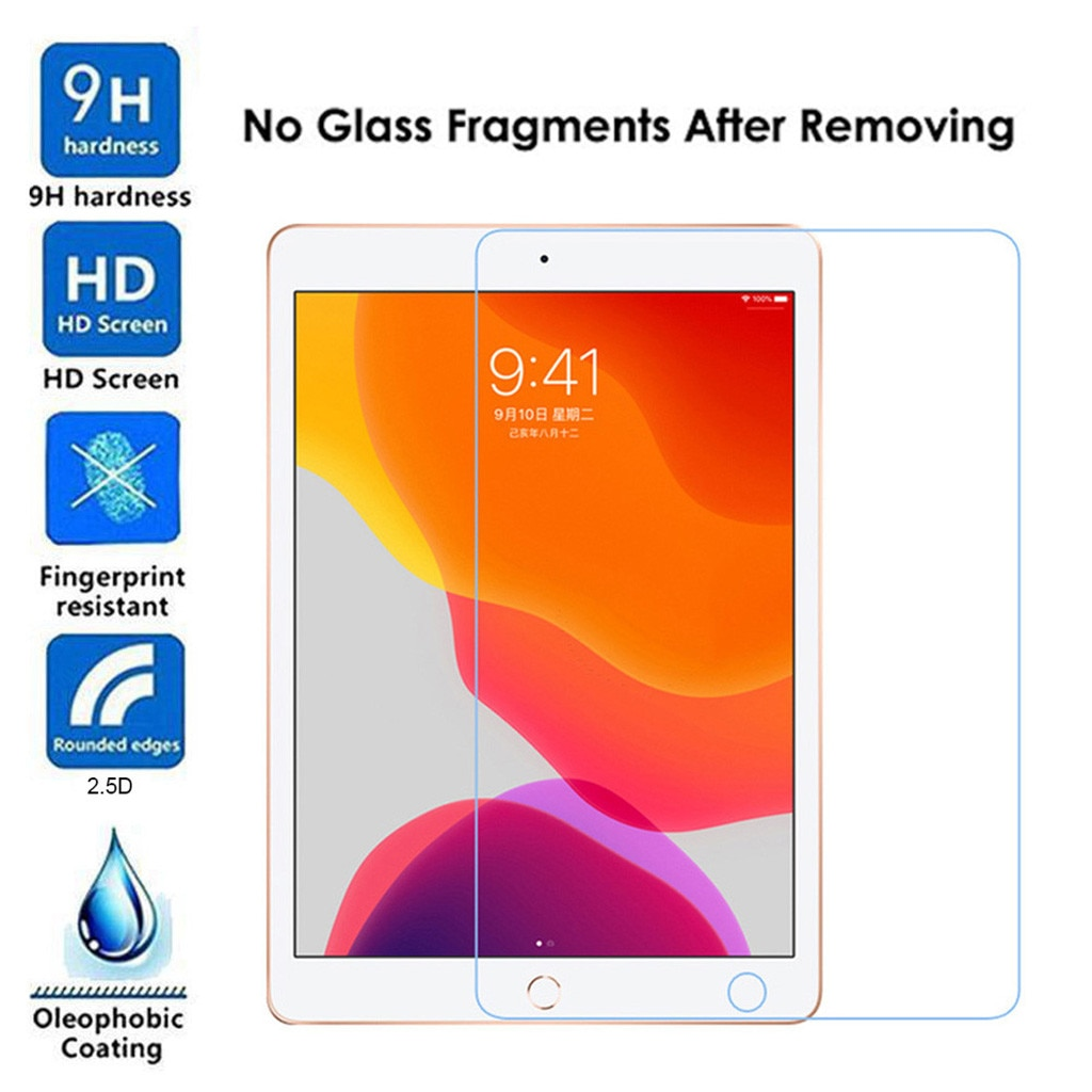 2x Clear Tempered Glass High Quality Film Tablet Screen Protector Pad Accessories For Ipad 7th Gener