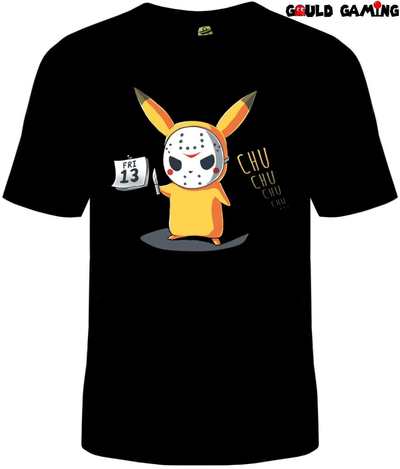 Viernes 13 camiseta Unisex adultos Horror Pikachu Pokemon Halloween tamaños nuevos