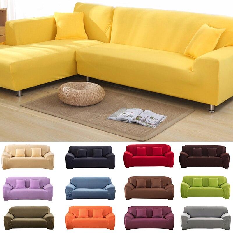 غطاء صوفا على شكل حرف l ، غطاء أريكة حديث مرن ، ألوان سادة ، مطبوع ، لغرفة المعيشة