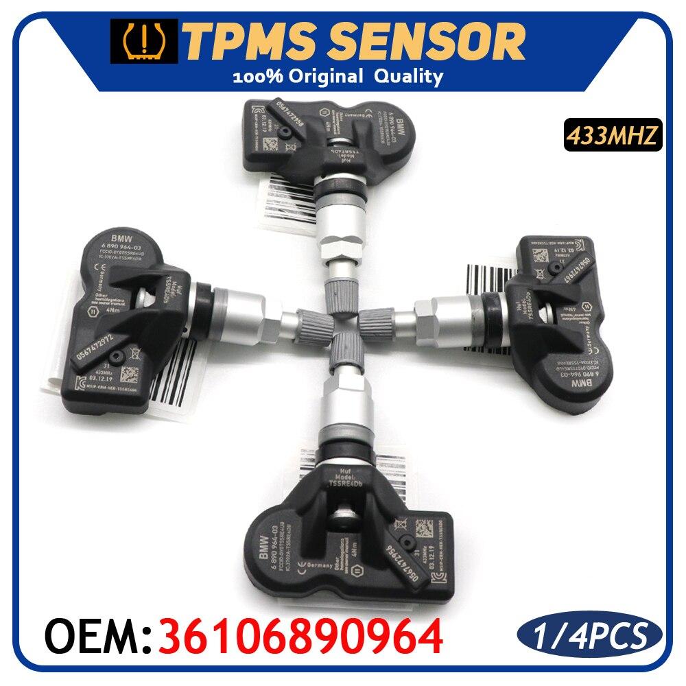 Auto TPMS Reifendruck Monitor Sensor 36106890964 Für BMW X1 X3 X4 Z4 2 3 4 5 6 7 320I mini COOPER R60 ROOLS ROYCE Ghost 433Mhz