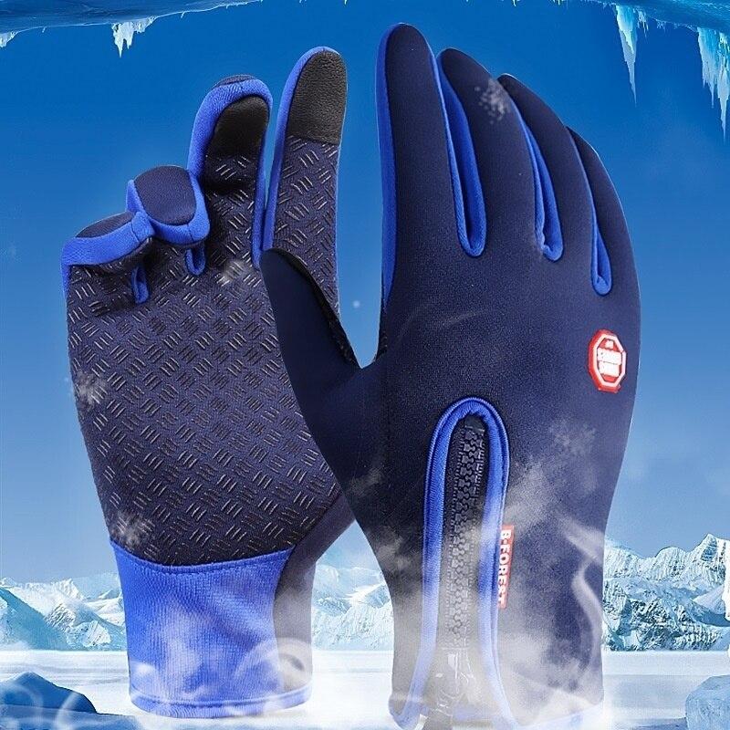 2021 горячая Распродажа зимние перчатки мужские мотоциклетные холодные перчатки унисекс для верховой езды с сенсорным экраном на молнии мод...