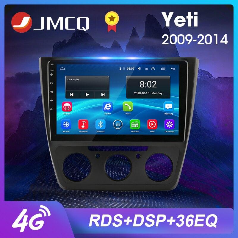 "JMCQ 10"" 2G+32G Android 8.1 Car Radio Multimedia Video Player Head Unit RDS DSP Navigation GPS for Skoda Yeti 5L 2009-2014 2din"