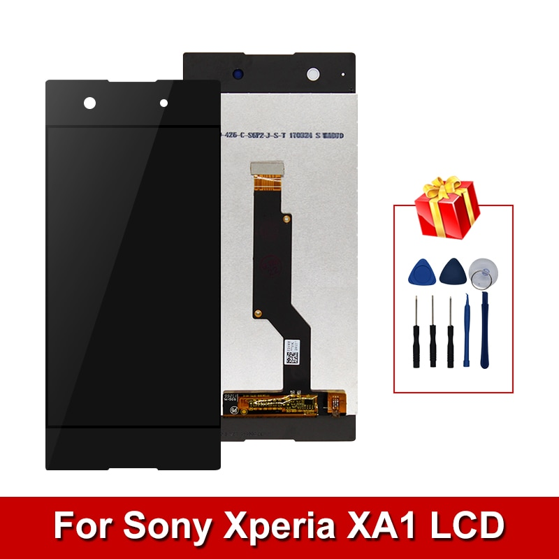 5.0 polegada para sony xperia xa1 lcd g3116 g3121 g3123 g3125 g3112 display digitador assembléia tela de toque com quadro para xa1 lcd