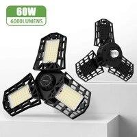niclux led garage light ac85 265v super bright deformation 60w high bay lamp industrial lighting for workshop warehouse
