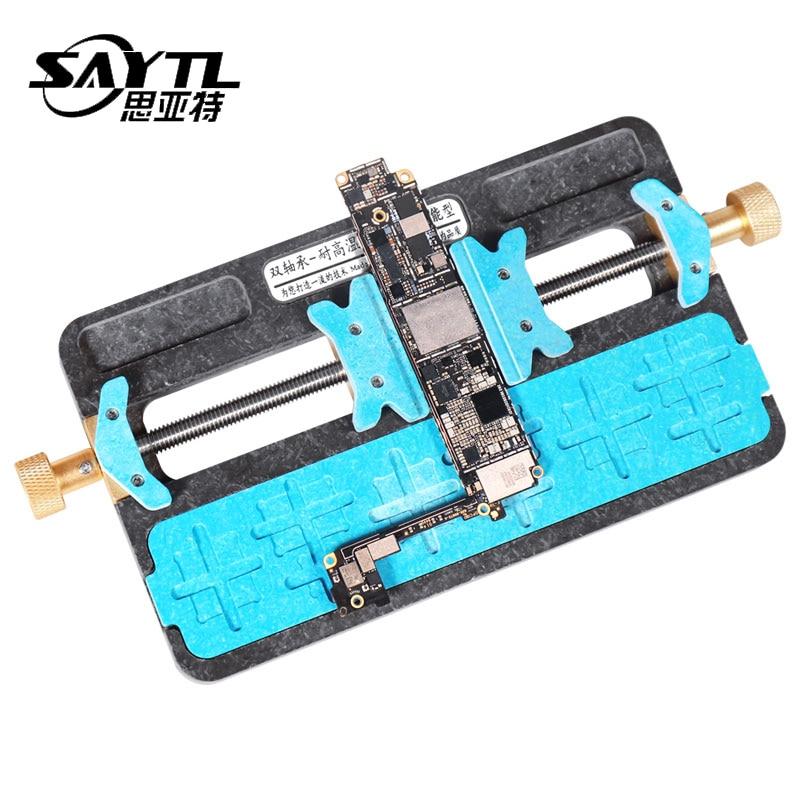 Herramienta de reparación de soldadura de alta temperatura para teléfono móvil placa base PCB soporte Jig Accesorio con ubicación IC para iPhone PCB soporte