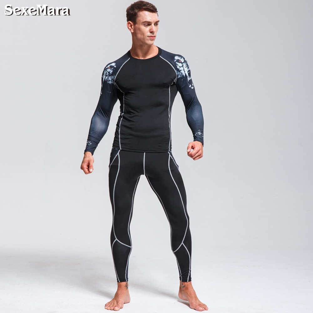 DaFeiBang New Men's Thermal Underwear Sets Compression Fleece Sweat Quick Drying Thermo Underwear Men Clothing Long Johns top quality new thermal underwear men underwear sets compression fleece sweat quick drying thermo underwear men clothing s 3xl
