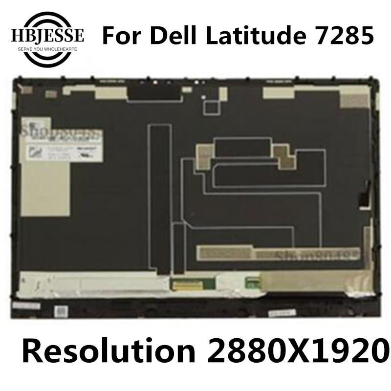 Original LQ123Z1JX31 LCD pantalla para Dell Latitude 7285 12,3 pulgadas LCD visualización pantalla táctil montaje