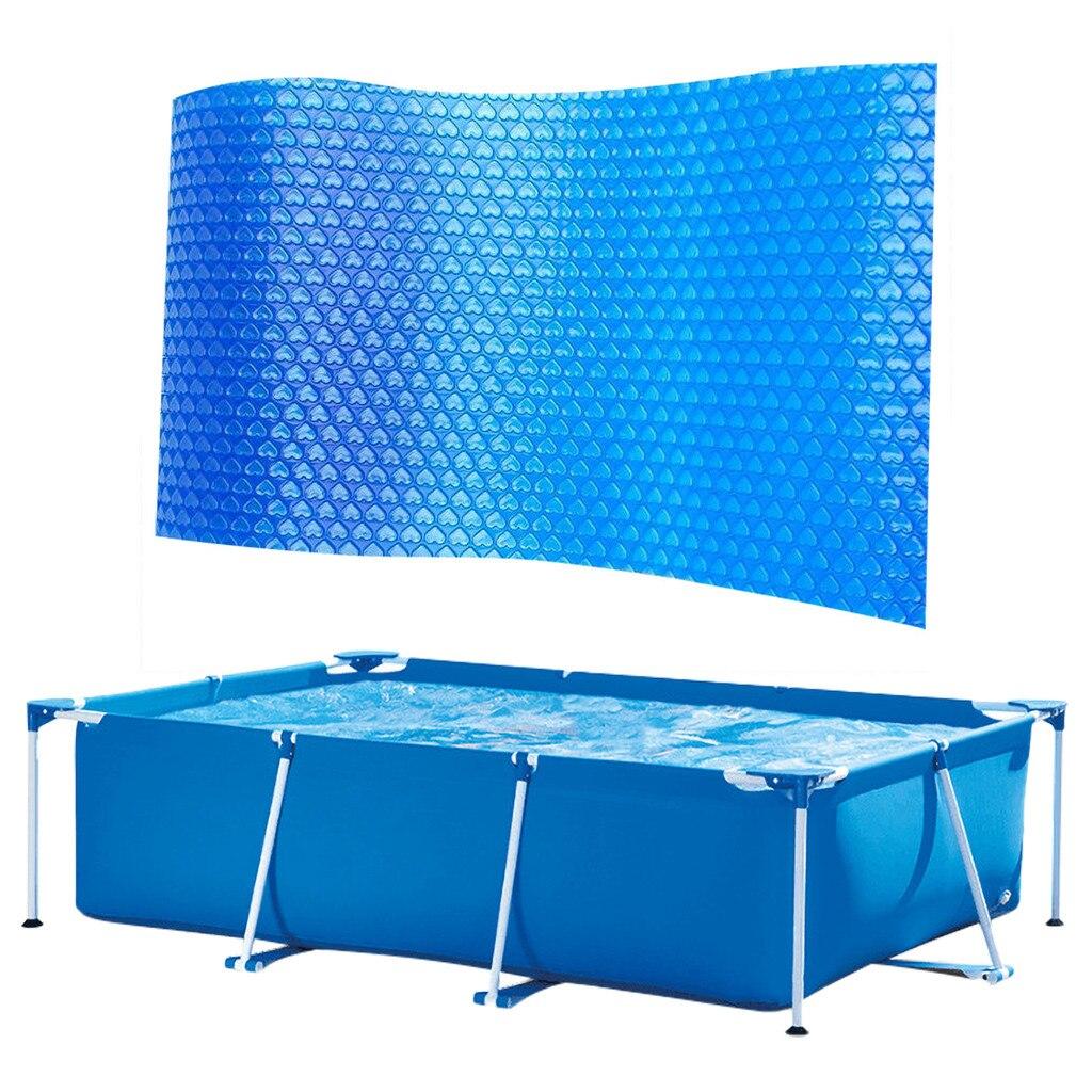 Capa protetora de piscina para cima do pé, acessórios de proteção azul para piscina, 220x150 300*200cm à prova d água capa d5