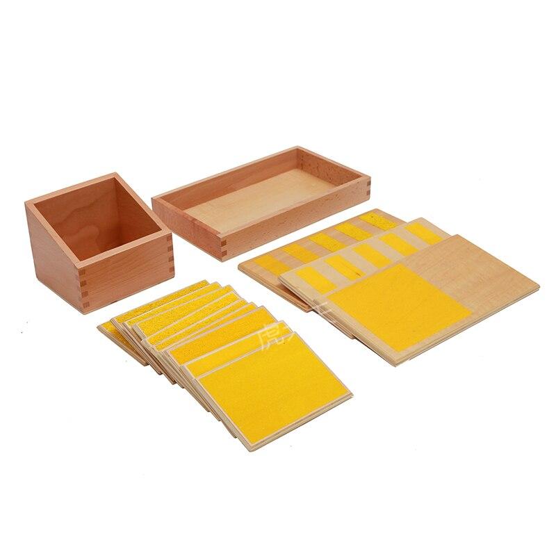 Paneles táctiles con caja de materiales sensorial Montessori para sala de clases en CASA equipo de preescolar educación temprana para 3 ~ 6 años