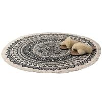 Morocco Round Carpet Bedroom Boho Style Tassel Cotton Rug Hand Woven National Classic Tapestry Sofa Cushion Tatami Floor Mats