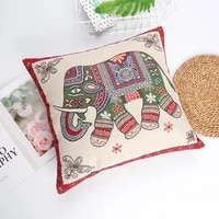 ethnic style pillowcase nordic double sided gold embroidered elephant cushion cover personalized home sofa decoration 4545cm