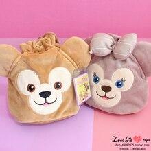 Duffy Bear Shelliemay Cosmetic Bag Cartoon Cute Duffy Bear Plush Purse Bag Drawstring Bag Storage Makeup Bag for Girls Gift