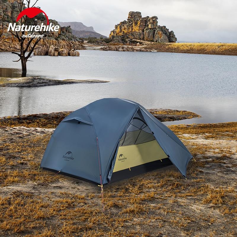 Naturehike في خفيفة 15D مطورة ستار نهر التخييم خيمة 2 شخص 4 الموسم 15D سيليكون خيمة مع البصمة