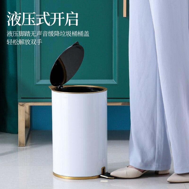 Luxury Modern Trash Bin Bedroom Nordic Creativity Home Kitchen Trash Can Storage Minimalist Poubelle De Cuisine Storage BC50LJ enlarge