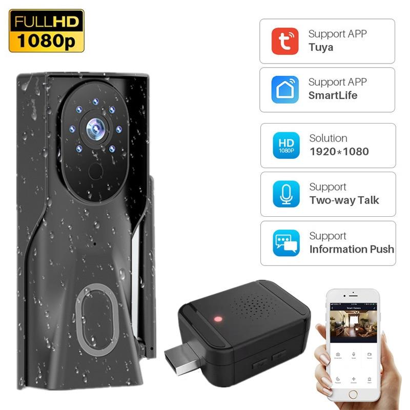 1080P Tuya Smart WiFi Doorbell 2MP Camera Outdoor Wireless Video Intercom Smart Life Home Security Door Bell Chime Two Way Audio enlarge