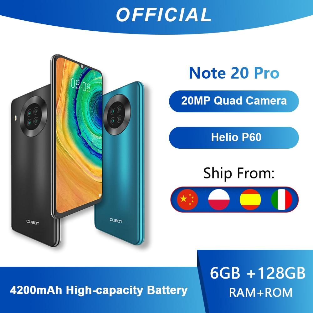 Перейти на Алиэкспресс и купить Cubot Note 20 Pro Quad Камера смартфон NFC 6/8 ГБ + 128 Гб 6,5 дюймов 4200 мАч Android 10 Dual SIM телефон 4 аппарат не привязан к оператору сотовой связи celular Note20 Pro