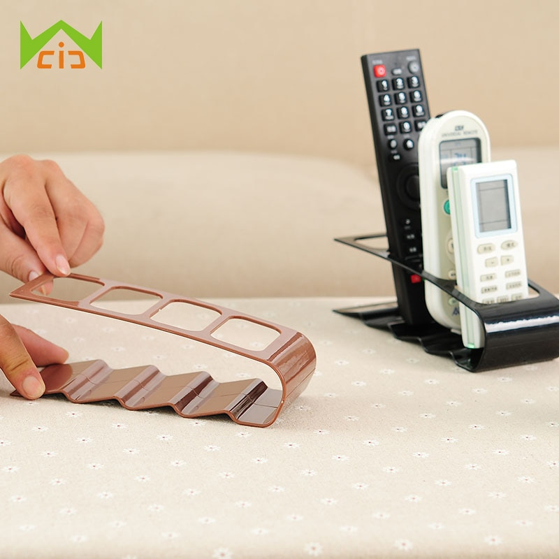 Practical 4 Section Remote Storage Rack TV DVD VCR Step Storage Organizer Remote Control Phone Holder Stand Storage Holder Rack