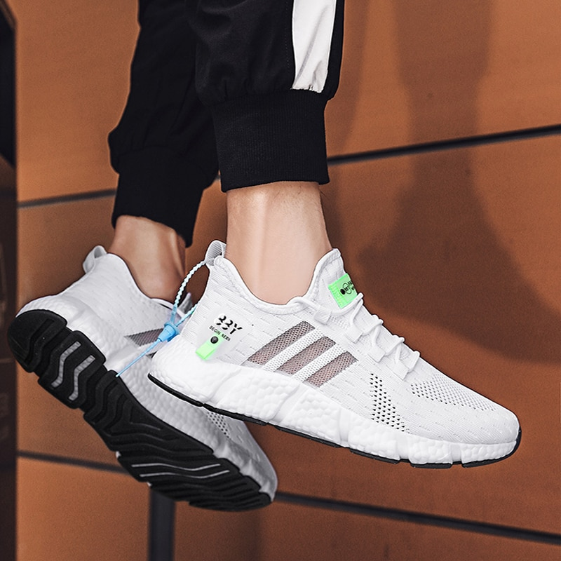 39-46 Plus Size Men's White Running Shoes Lightweight Sports Shoes For Men Casual Shoes Walking Blac
