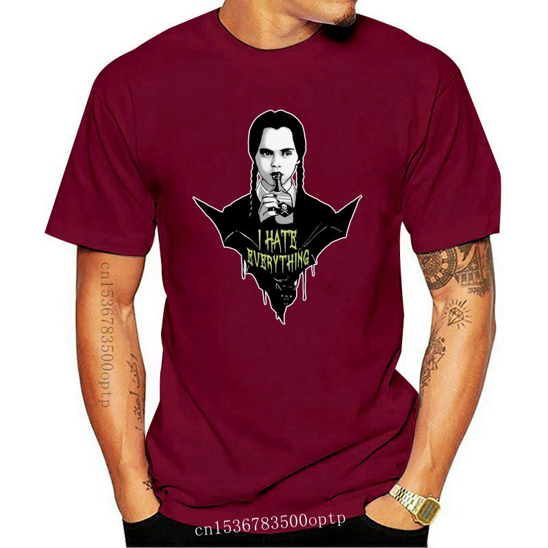 Wednesday Addams Goth Gothic Emo I Hate Everything T Shirt Black Ship Fast 2Xl 45Xl Tee Shirt