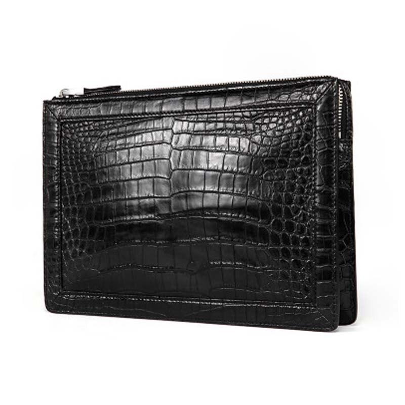 yuee new Thailand crocodile male handbags business crocodile men wallet long handbags Genuine leather Hand bag Men clutch bag