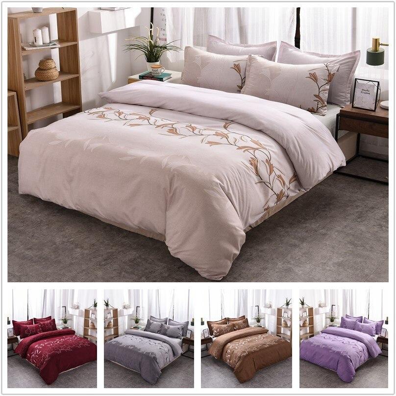 Qibeauty-مفرش سرير مطبوع عادي ، غطاء وسادة ، سلسلة أزياء ، قصر ، منسوجات منزلية