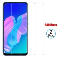 2pcs 9h tempered glass for huawei p40lite e p40 light e safety screen protector on huawei p40 lite e phone protective glass