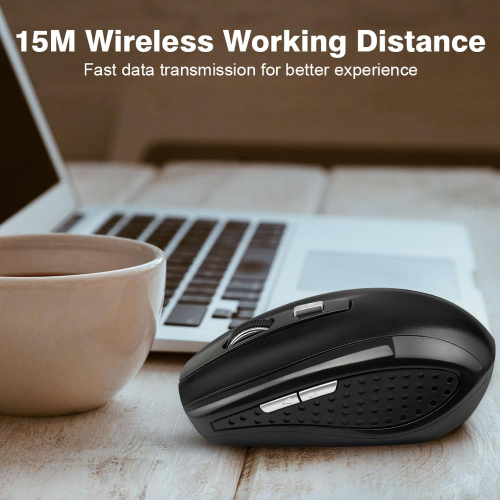 3 Adjustable DPI 2.4G Wireless Gaming Mouse 6 Buttons Laptop Notebook PC Cordless Optical Game Mice