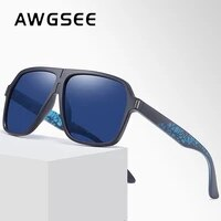 awgsee new fashion men polarized sunglasses brand design tr ultralight durable driving male sun glasses black shades uv400