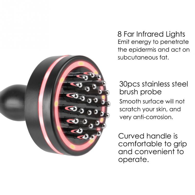 Far Infrared Electric Massage Brush Dredge Meridian Gua Sha Anti Cellulite Slimming Reduce Wrinkles Back Neck Massage Tool enlarge