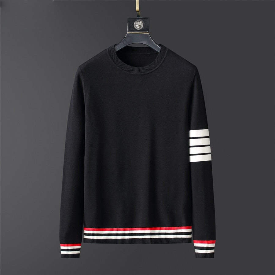 2020 Sweater Mens Clothes Fall Winter Men Clothing Long Sleeve Knitted Pullover Plus Size Striped High Quality Korean Style Tops