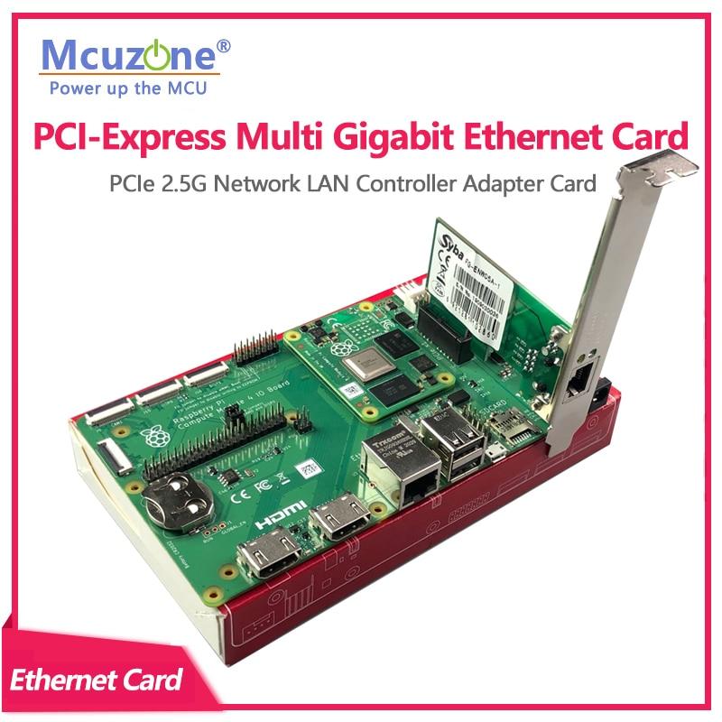 بطاقة مهايئ شبكة LAN لـ PCIe 2.5G من PCI-Express متعددة جيجابت إيثرنت