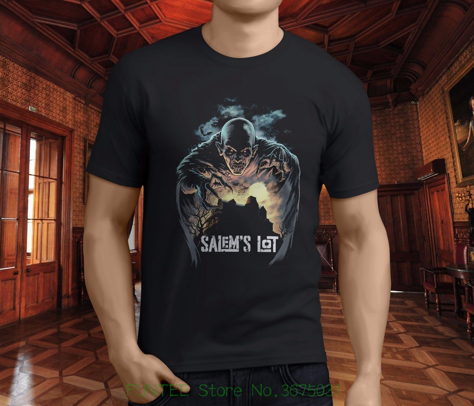 Camiseta de manga corta de moda camiseta nuevo Popular Salems Lot American Horror Show hombres camiseta negra S-3xl