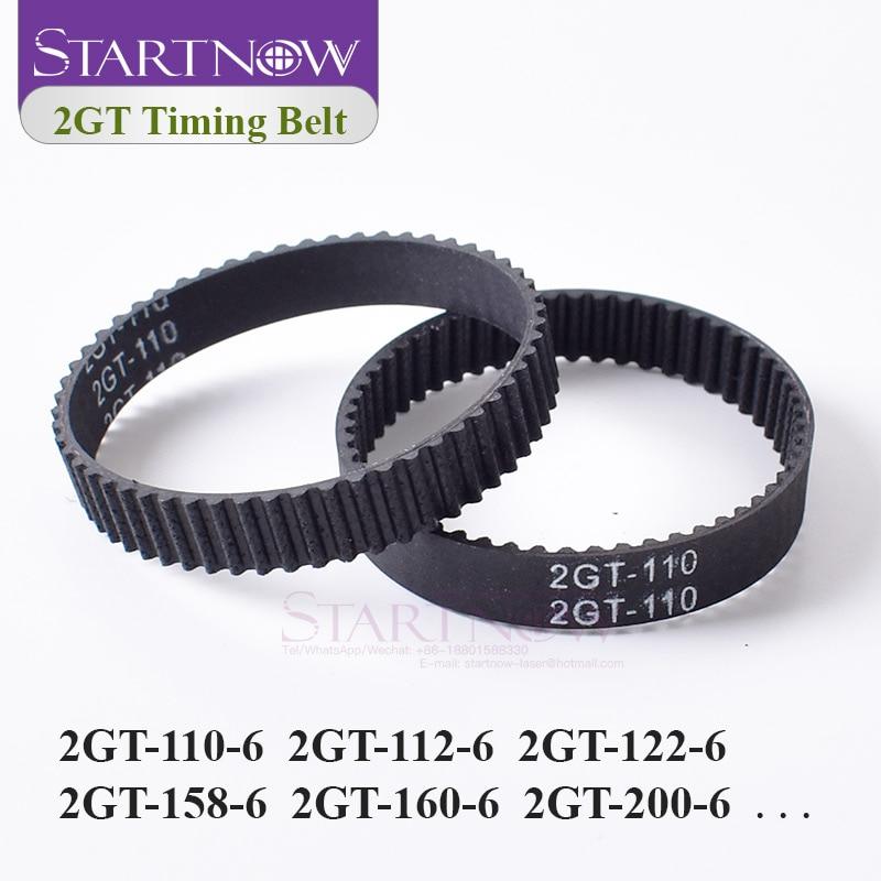 2GT Closed Loop Timing Belt Rubber GT2 6mm 2GT-110 112 122 200 280 300 610 852 Synchronous Belt For 3D Printer Parts