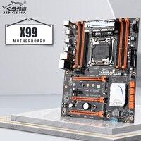 JINGSHA X99 Motherboard LGA 2011-V3 CPU 8*DDR3 DIMM 8* SATA3.0 Up to 256GB NVME M.2*M.2 WIFI
