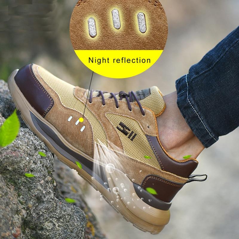 Arbeit Stiefel Bau herren Outdoor Stahl Kappe Kappe Schuhe Männer Pannensichere Komfortable Weiche Hohe Qualität Sicherheit Schuhe