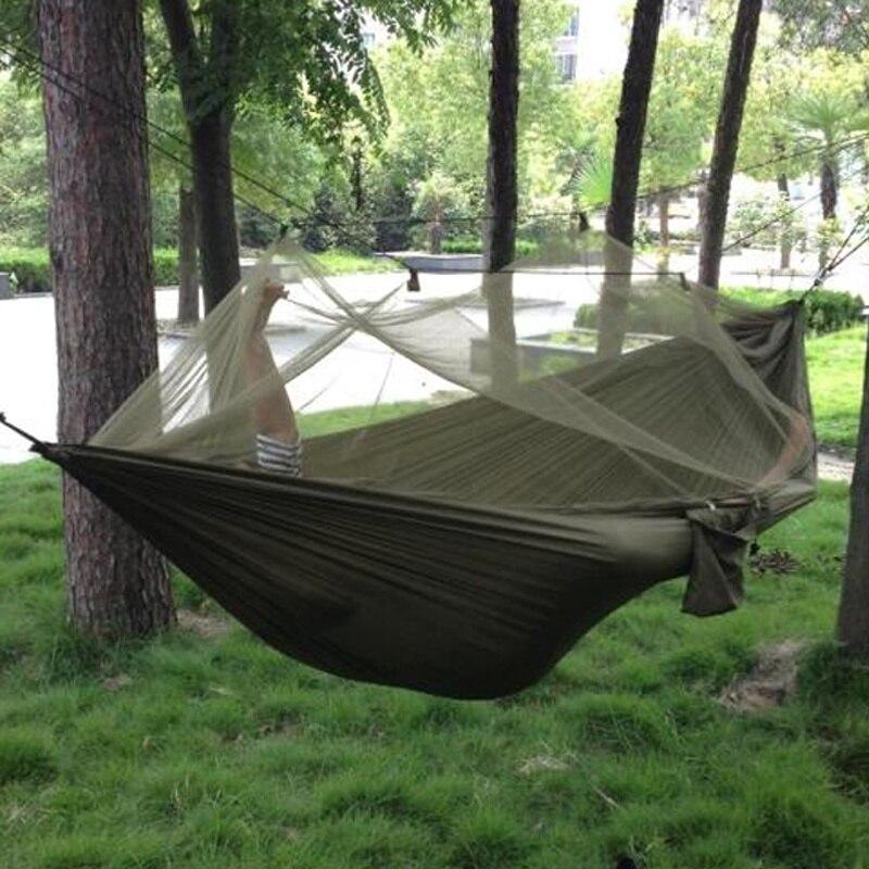 2021 أرجوحة التخييم الذهاب أرجوحة مع ناموسية مزدوجة شخص أرجوحة خفيفة في الهواء الطلق الصيد السياحية المحمولة أرجوحة خيمة