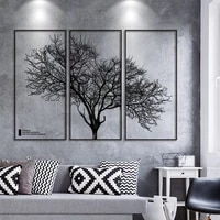 creative big tree branches black frame wall sticker for living room bedroom room wall decoration geometry elk art wall sticker