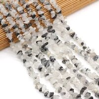 natural crystals gravel beads irregural loose stone beads for jewelry making diy necklace bracelet 3x5 4x6mm length 40cm