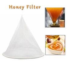 Filtre découlement pour miel dabeille   Maille en Nylon en forme de cône, passoire en Fiber dabeille, purificateur filet dabeille, outils de ruche, équipement dabeilles