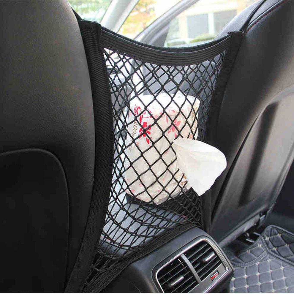 Car Tidy Cargo Rear Trunk Seat Storage Organizer Pocket Elastic Mesh Net Bag Hot