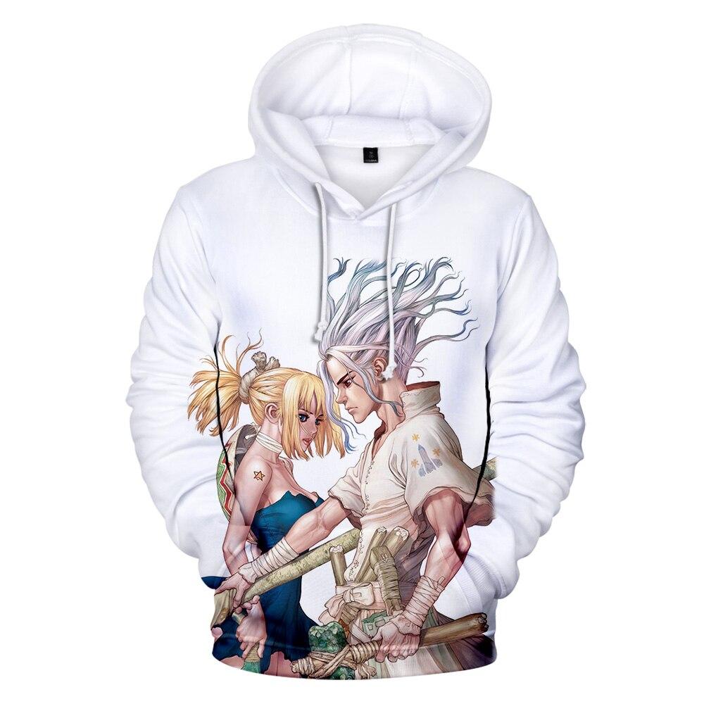 Drstone/худи с 3D принтом TMS; развлекательная футболка с 3D Аниме; толстовка с капюшоном; популярная Повседневная футболка с героями мультфильмов ...